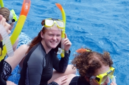 students snorkelling