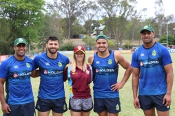 Kangaroos Training with Keebra Park