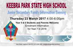Junior Secondary Family Information Evening